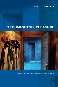 book cover of Techniques of Pleasure, depicting an open dungeon door